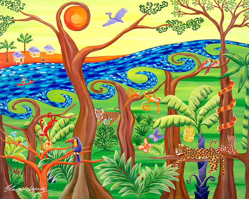 Joyful Jungle, Original Wall Art