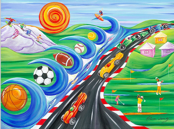 Sports Dream Original Kids Wall Art