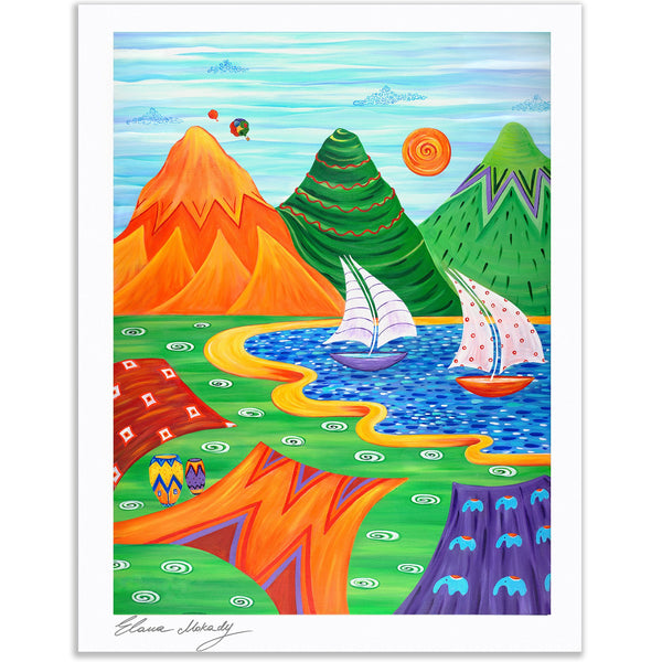 Paradise Beach, Paper Print Wall Art