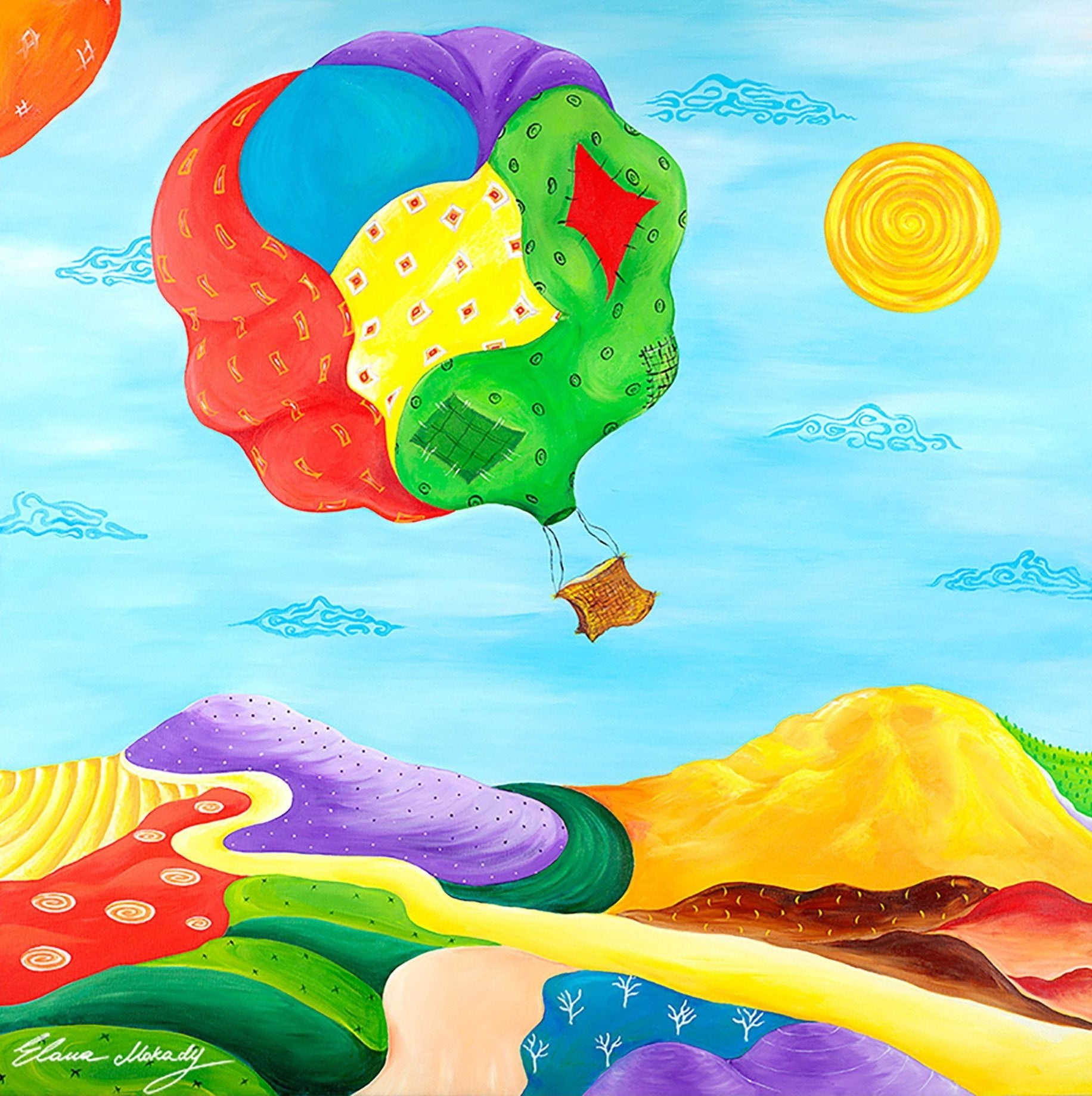 Patches Hot Air Balloon, Canvas Wall Art
