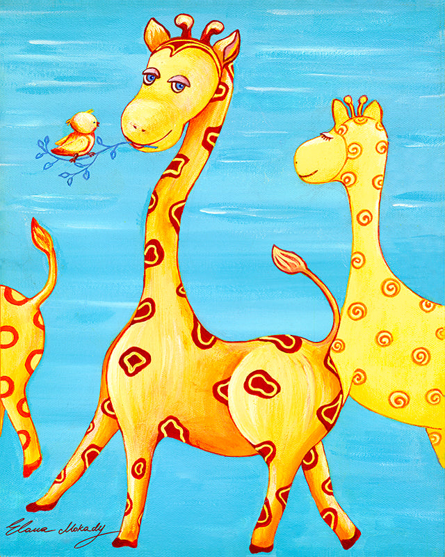 Giraffe Patterns, Original Wall Art