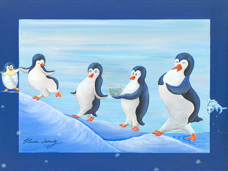 A Happy Penguin Nation, Canvas Print