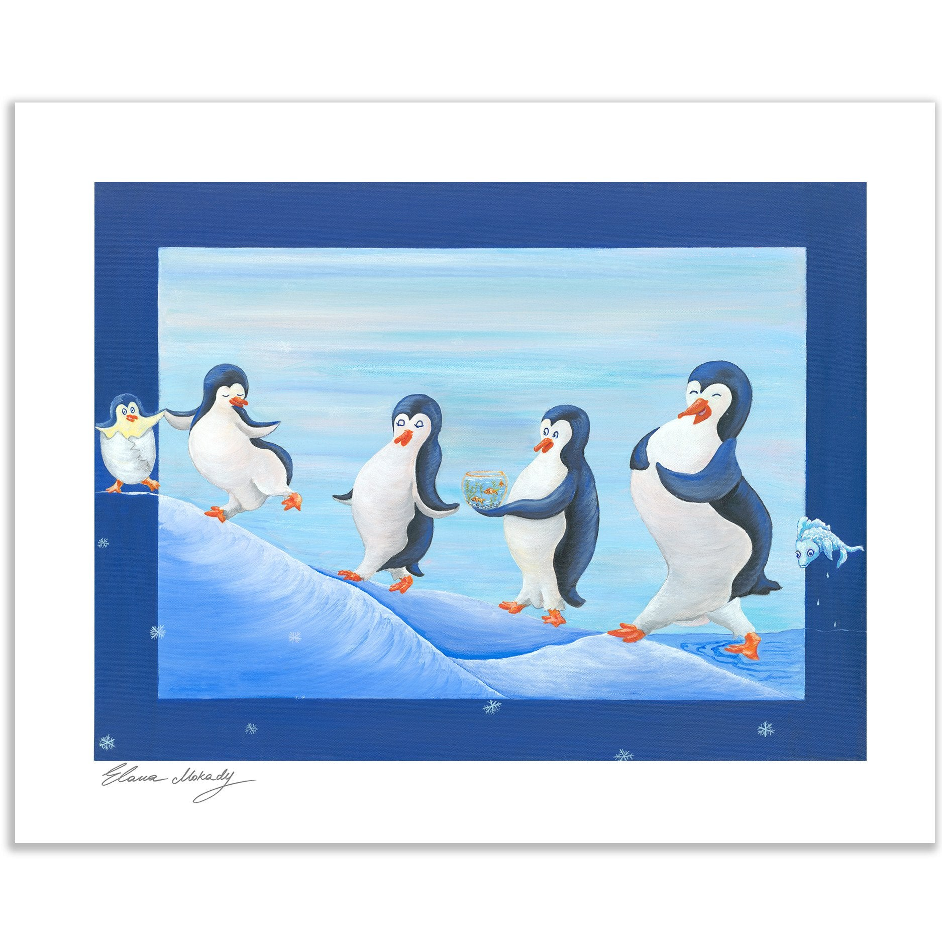 A Happy Penguin Nation Paper Print Wall Art for kids