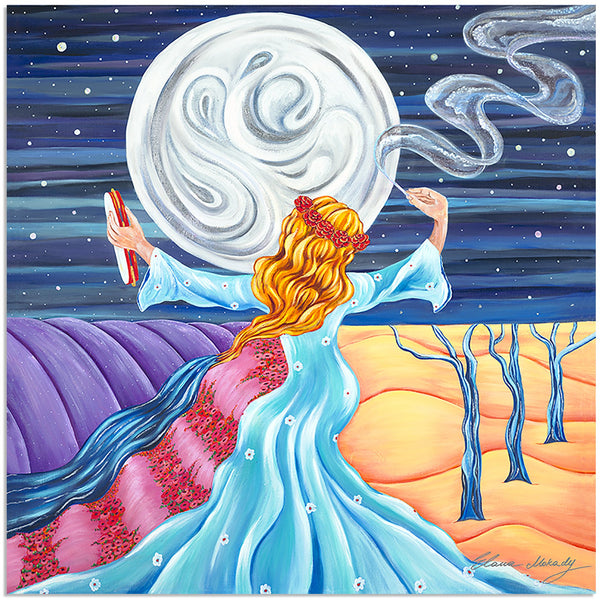 Moon Dance Original Canvas Wall Art