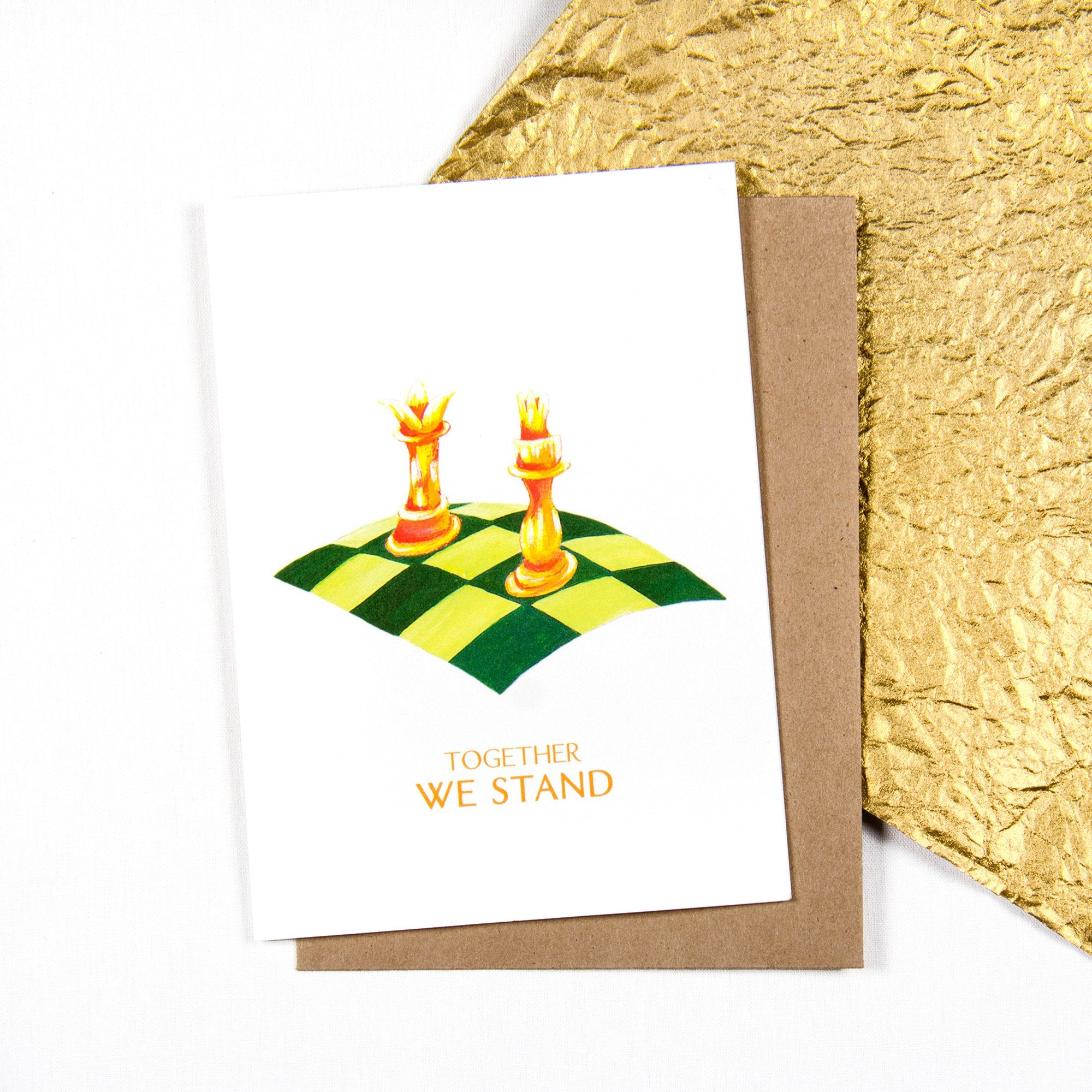 Together we stand Chess - Greeting card