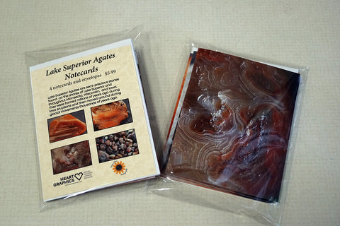 Lake Superior Agate Cards