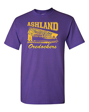 Ashland Oredockers T-Shirt Gold on Purple