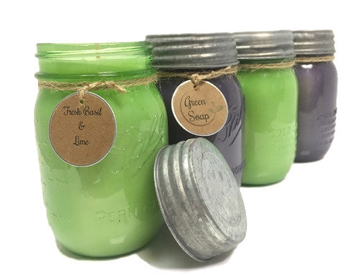 Fresh Basil Herb Garden Soy Candle