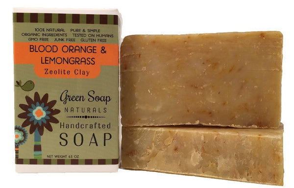 Blood Orange & Lemongrass Zeolite Clay Bar