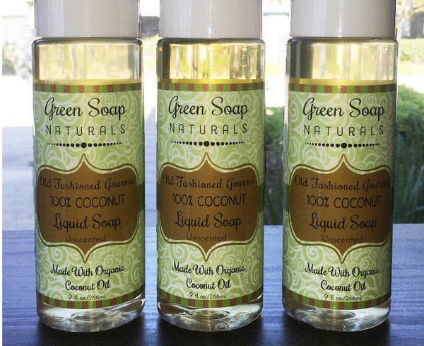100% Coconut Oil Gourmet Liquid Soap