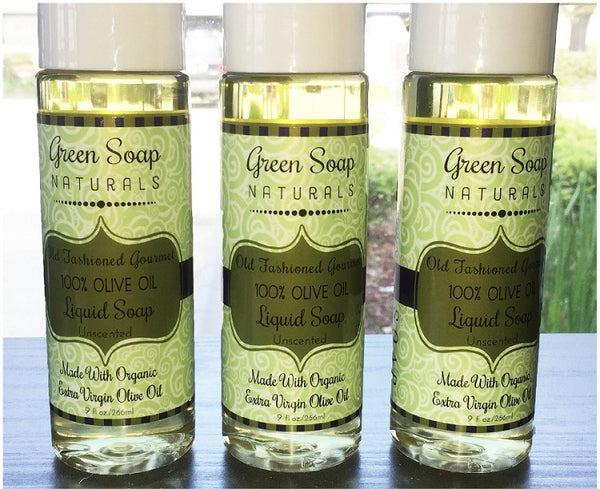100% Pure Olive Oil Gourmet Liquid Soap