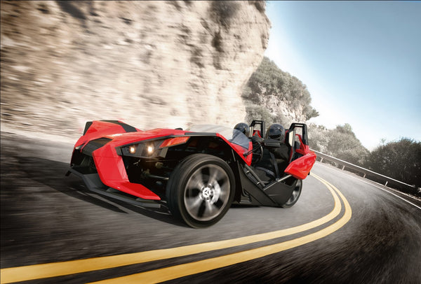 The Polaris Slingshot won't hold too many groceries.  But you don't care.
