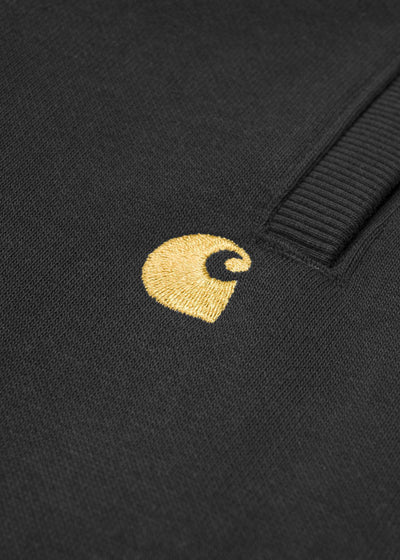 Carhartt WIP - Chase Sweat Short - Black/Gold, Shorts, Carhartt WIP, Hardpressed Print Studio
