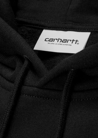 Carhartt WIP - Hooded Chase Sweatshirt - Black/Gold - Hardpressed Print Studio