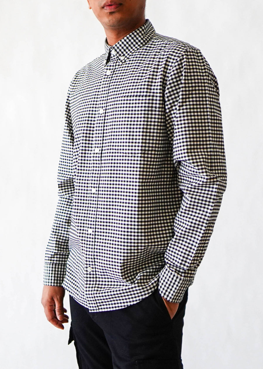 Carhartt WIP - L/S Bintley Check Shirt - Black