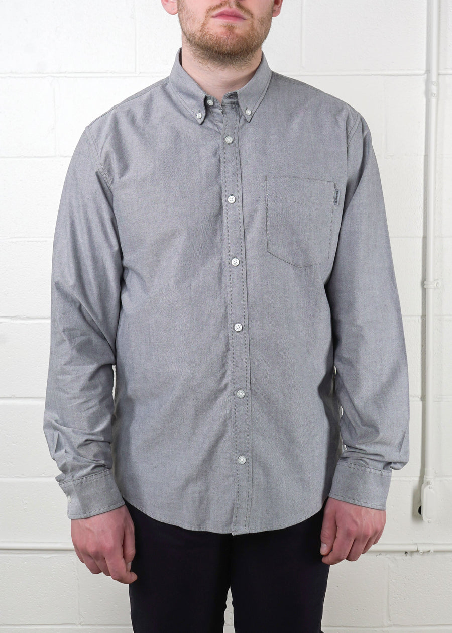 Carhartt WIP - L/S Button Down Pocket Shirt Cotton - Black