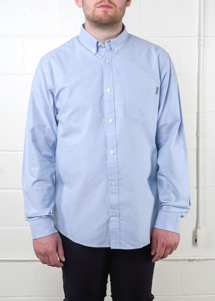Carhartt WIP - L/S Button Down Pocket Shirt - Bleach, Button Up Shirt, Carhartt WIP, Hardpressed Print Studio