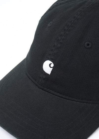 Carhartt WIP - Madison Logo Cap - Black/White - Hardpressed Print Studio