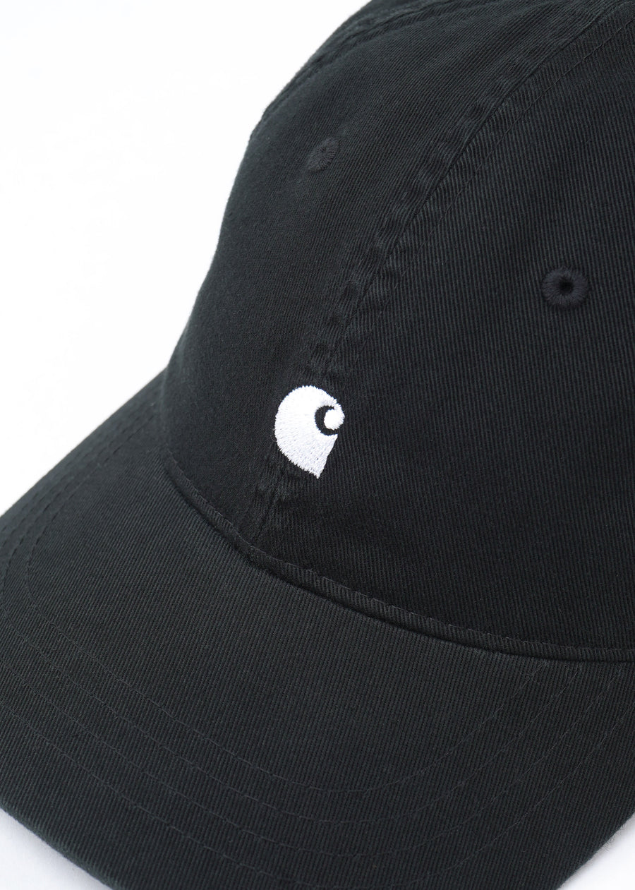 Carhartt WIP - Madison Logo Cap - Black/White, Hats, Carhartt WIP, Hardpressed Print Studio