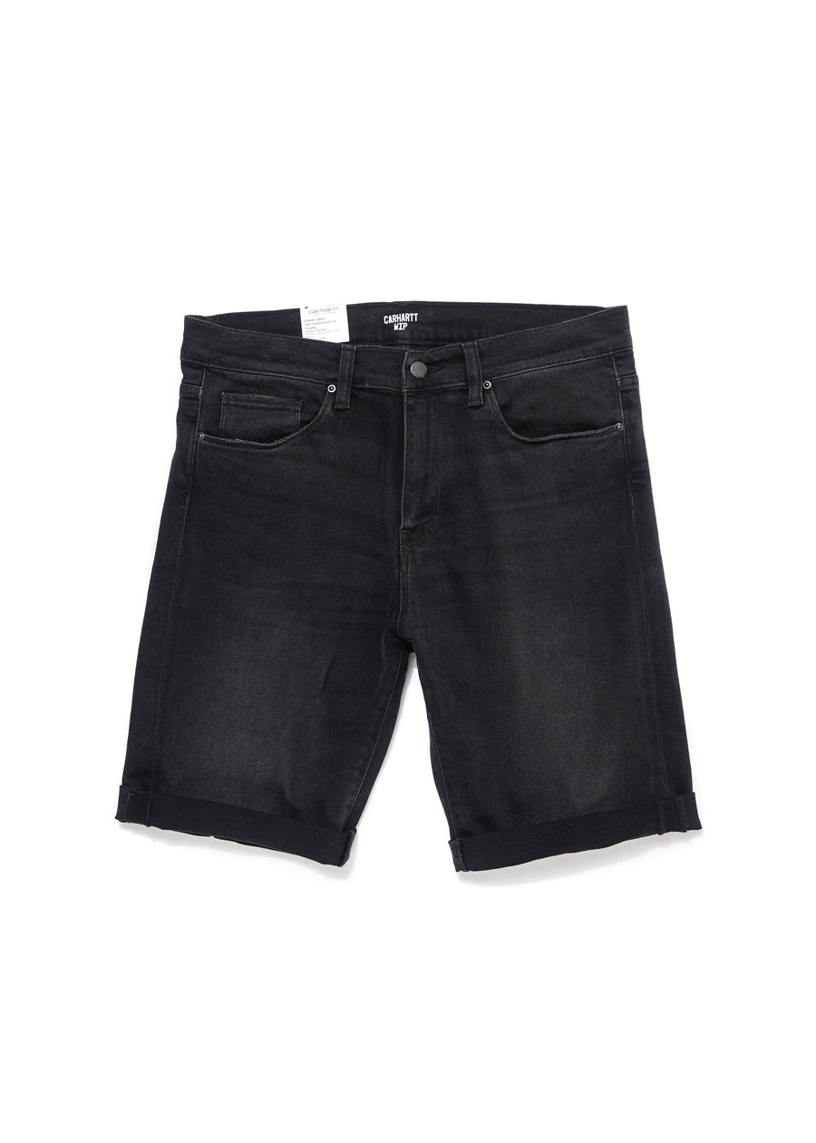 Carhartt WIP - Swell Short - Black Mid Worn