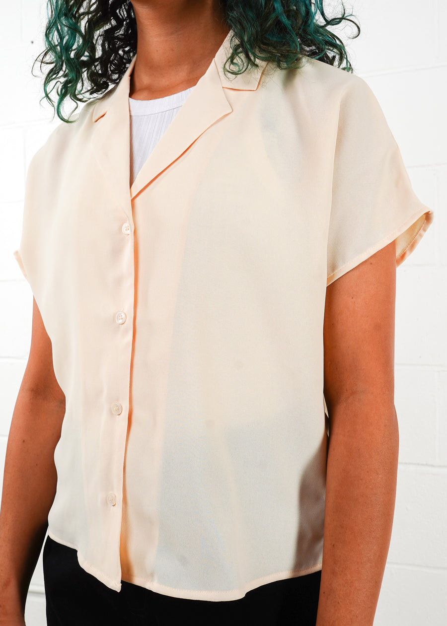 Frank And Oak - Camp Collar Short Sleeve Blouse