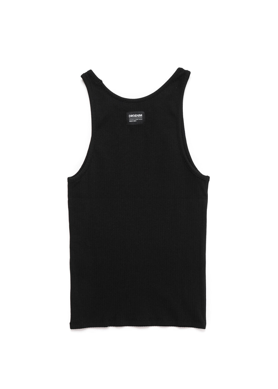 DR DENIM - Bianca Singlet - Black