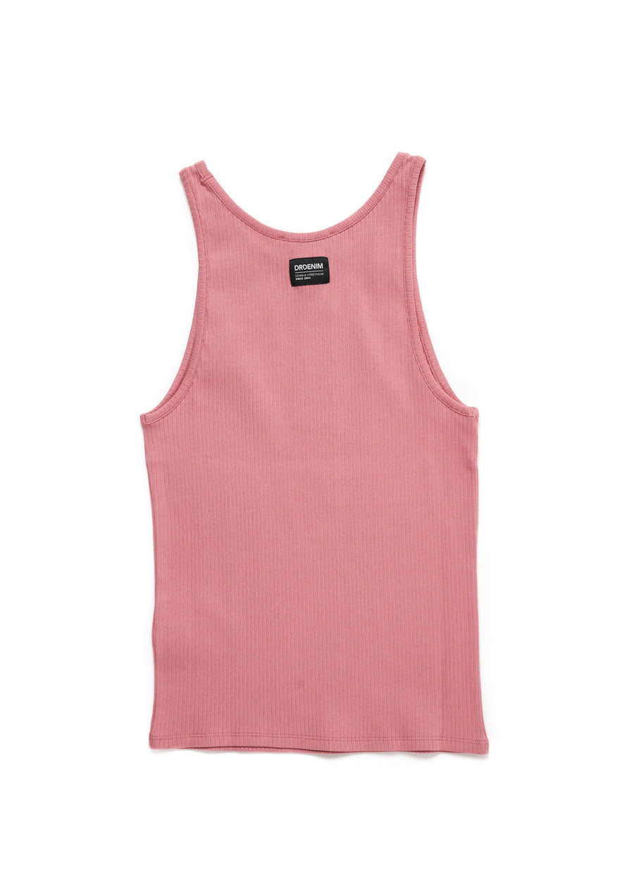 DR DENIM - Bianca Singlet - Rose Blush