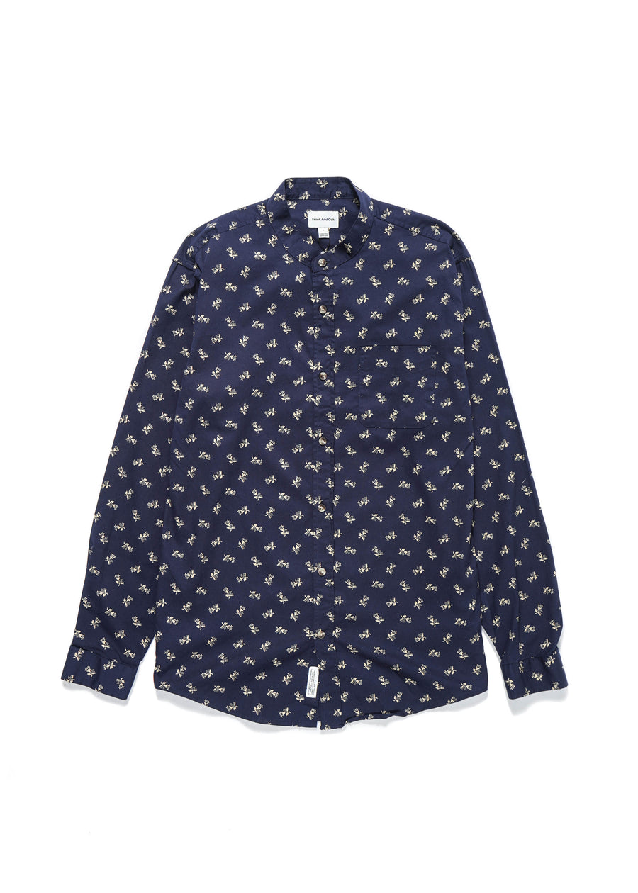 Frank And Oak - Discharge Print Oxford Shirt
