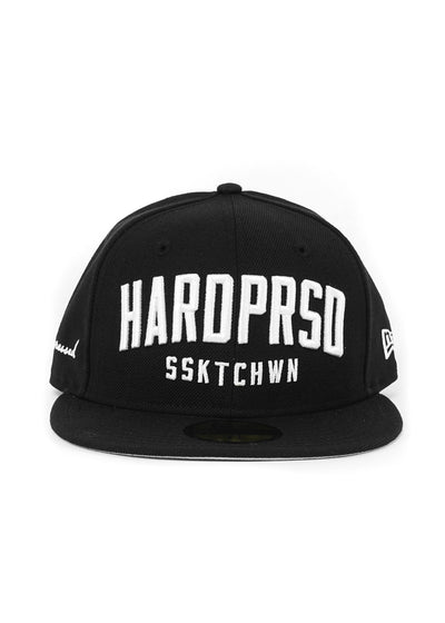 Hardpressed Alumni Cap NEW ERA 59FIFTY Fitted | Black/White, Hats, Hardpressed Print Studio, Hardpressed Print Studio