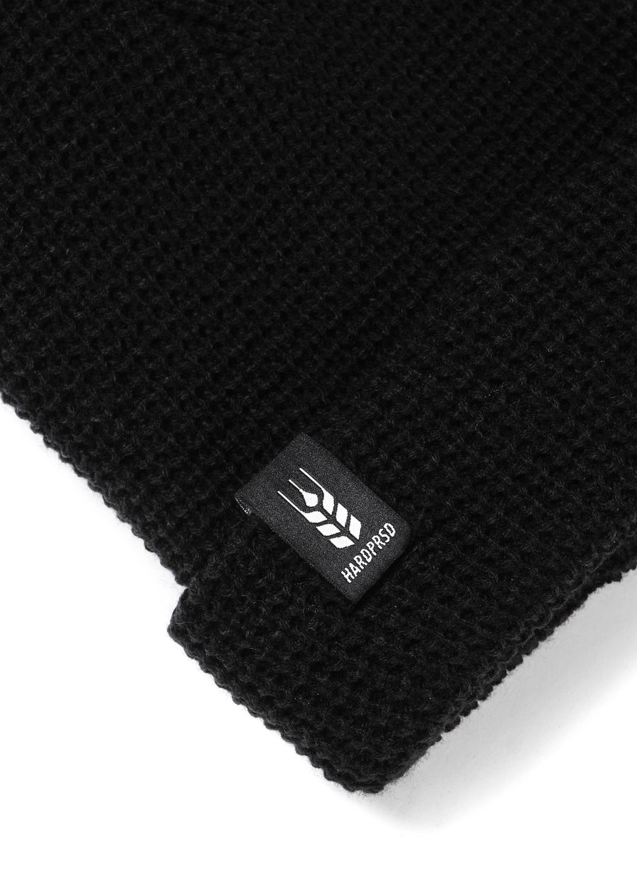 Cross Grain Waffle Toque | Black | Kids