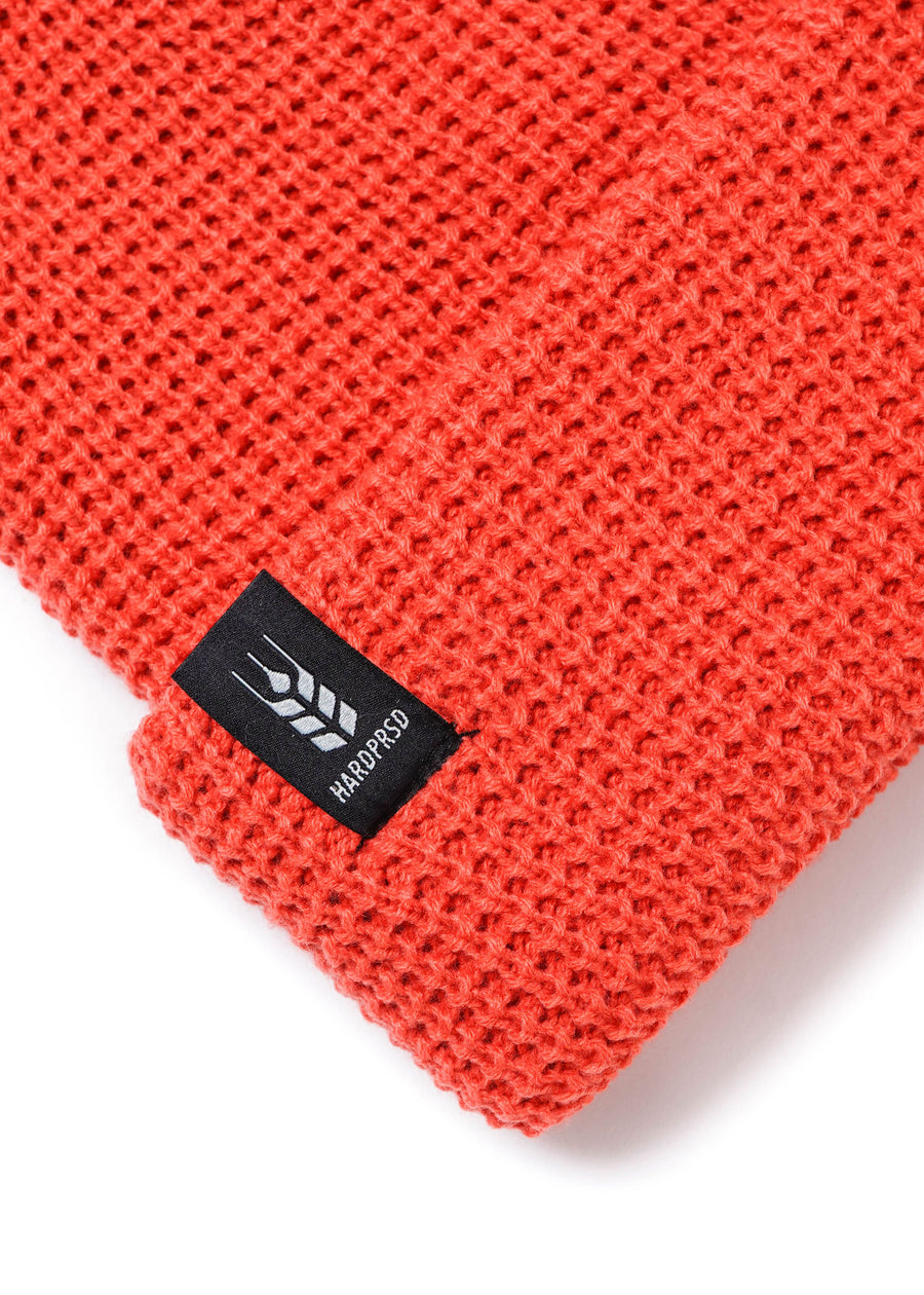 Cross Grain Waffle Toque | Coral | Kids