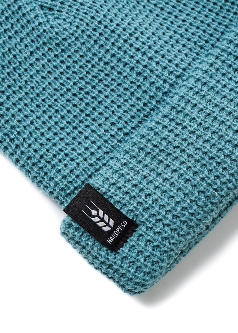 Cross Grain Waffle Toque | Teal | Kids