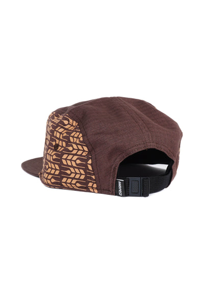 Cross Grain Five Panel | Brown - Hardpressed Print Studio