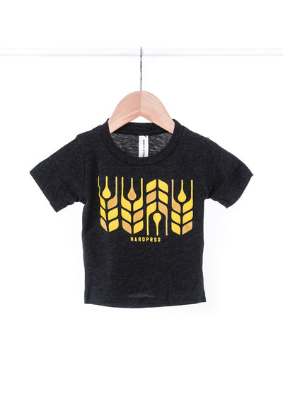 Cross Grain Tee | Tri-black | Kids