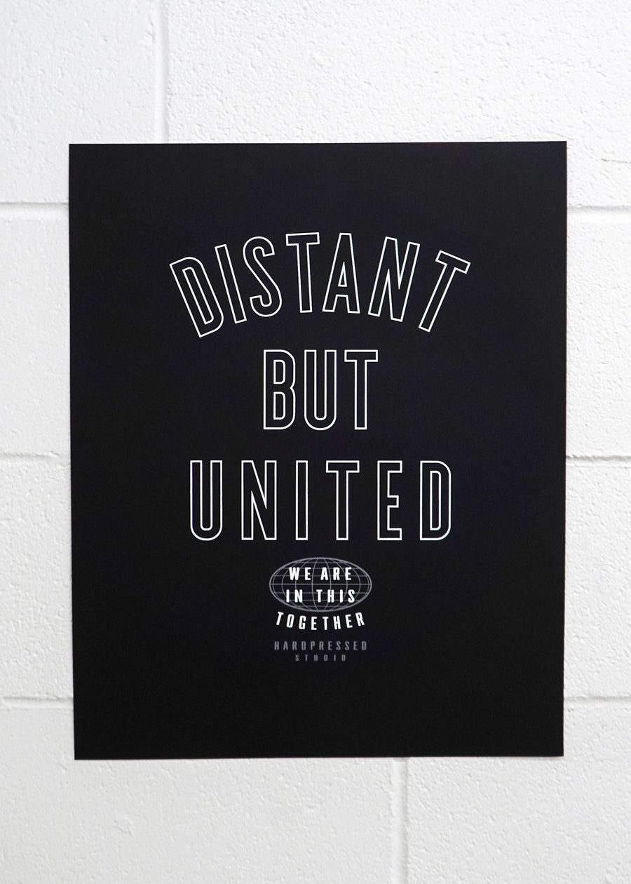 Distant but United Poster Print