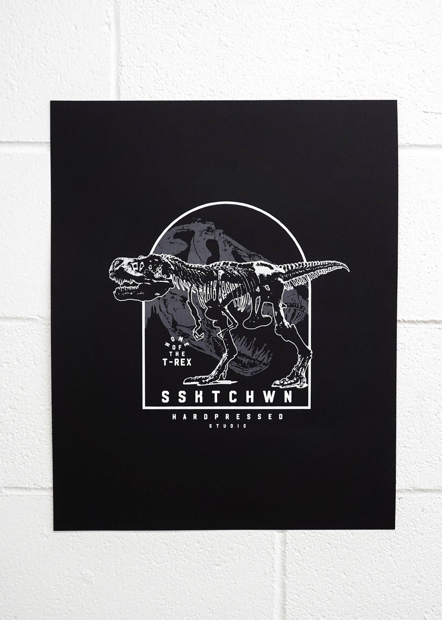 Home of the T-Rex Poster Print, Prints, Hardpressed Print Studio, Hardpressed Print Studio