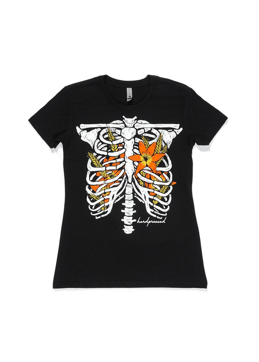 Lily Bones Tee | Black | Unisex and Ladies