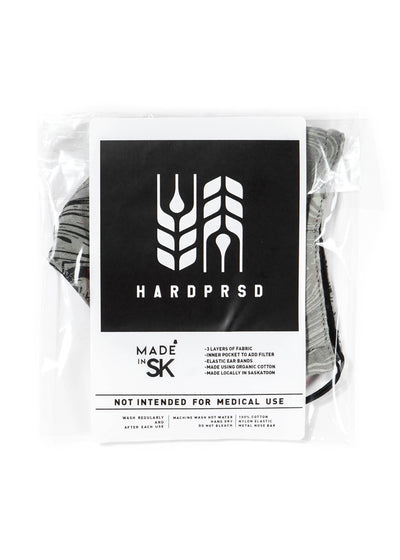 Hardpressed Mask | Black/Black | Cross Grain, Masks, Hardpressed Print Studio, Hardpressed Print Studio