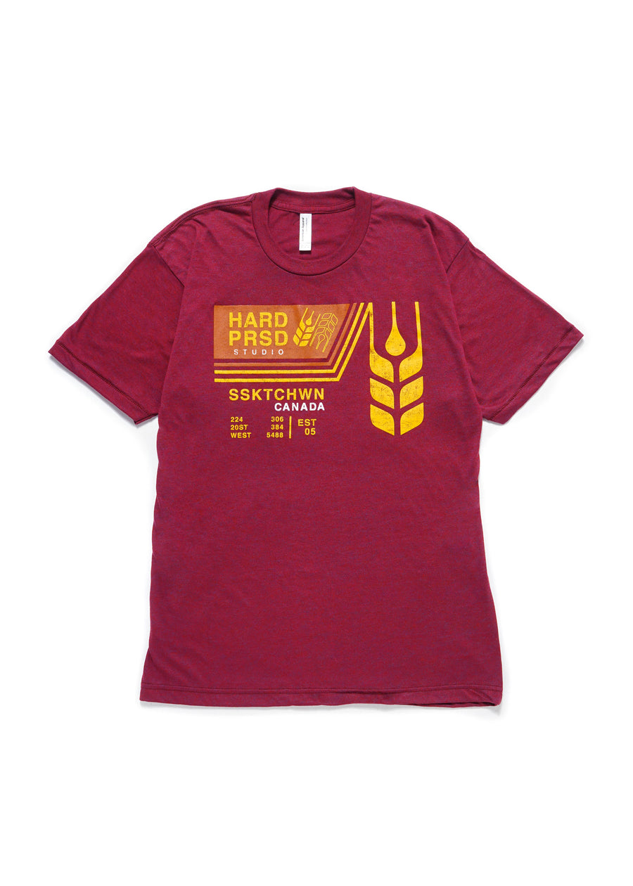Grain Car Tee | Maroon | Unisex and Ladies