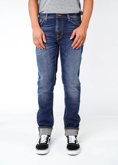 Nudie Jeans Co. - Lean Dean - Dark Deep Worn - Hardpressed Print Studio
