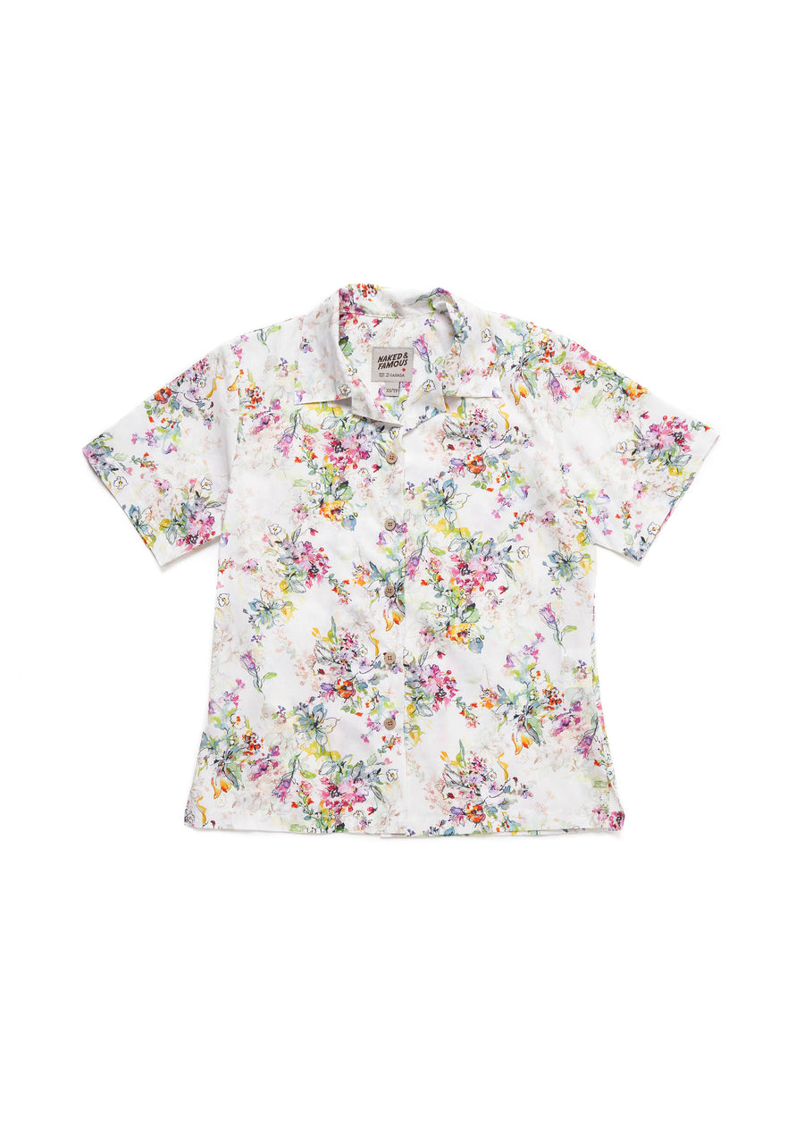 Naked & Famous Denim - Camp Collar Shirt - Flower Painting - Hardpressed Print Studio