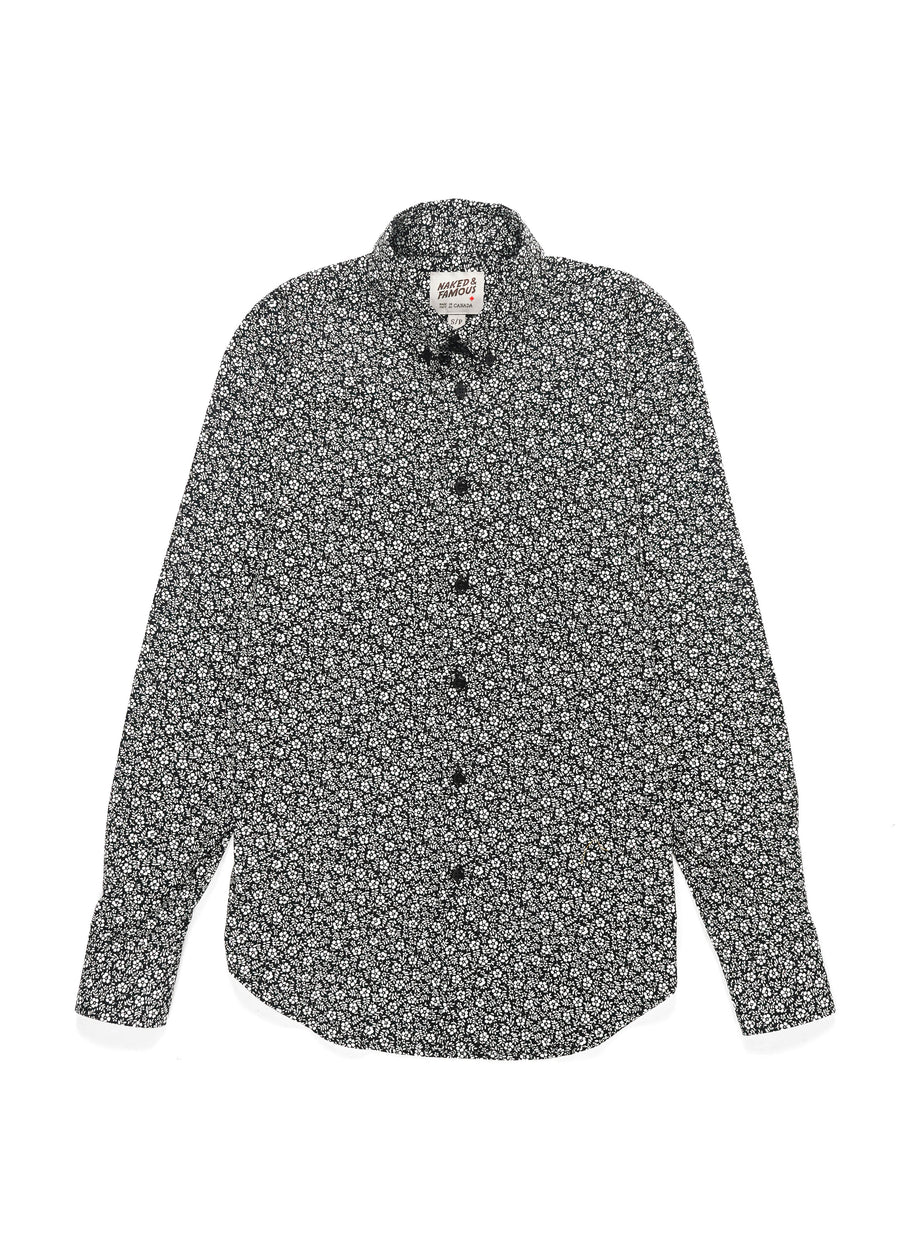 Naked & Famous Denim - Easy Shirt - Black & White Flowers