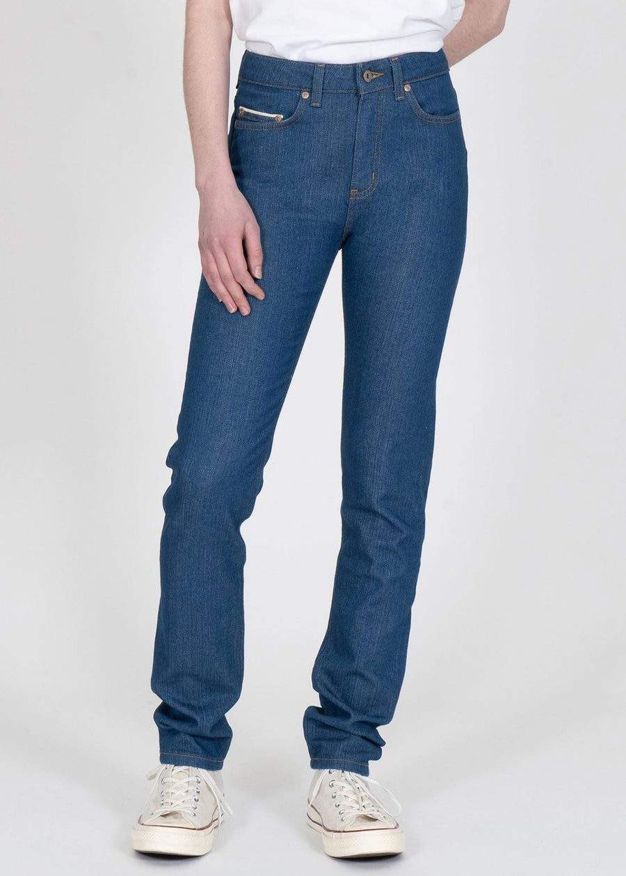 Naked & Famous Denim - The High Skinny - Stretch Selvedge Island Blue
