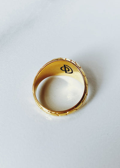 ONEIRO Designs - Serpent Signet Ring - Hardpressed Print Studio