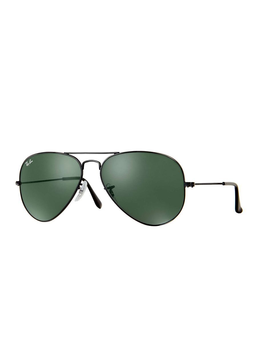 Ray Ban - RB3025 L2823 - Aviator Classic - Black/Green Classic G-15, Sunglasses, Ray Ban, Hardpressed Print Studio