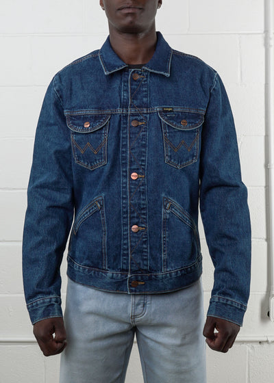 Wrangler - 124MJ6M Icons 124M Men's Denim Jacket - Hardpressed Print Studio