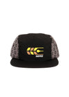 Cross Grain Five Panel | Black/Grey