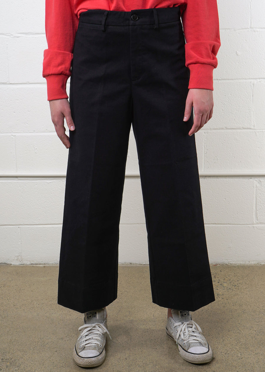 Frank And Oak - The Josephine Wide-Leg Good Cotton Pant, Pants, Frank And Oak, Hardpressed Print Studio
