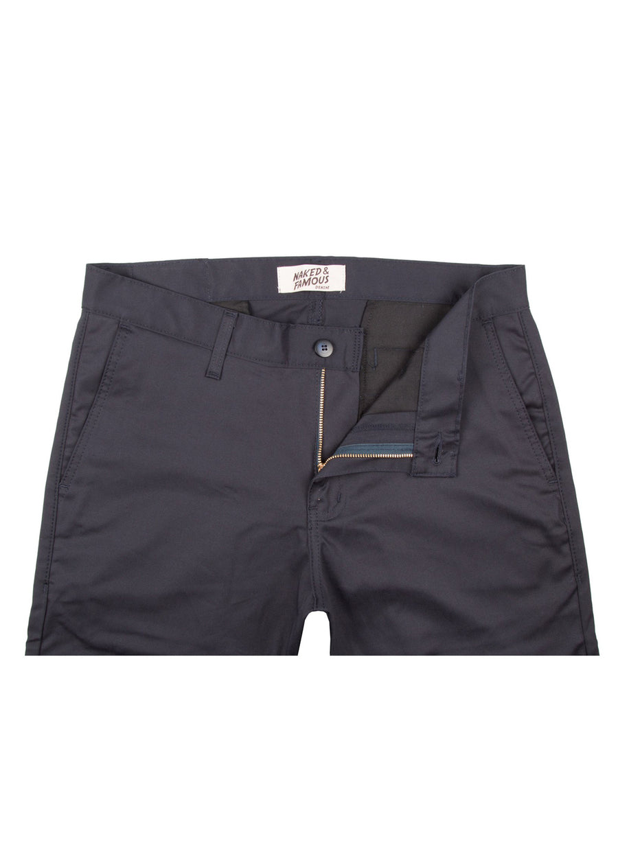 Naked & Famous Denim - Slim Chino Navy Stretch Twill