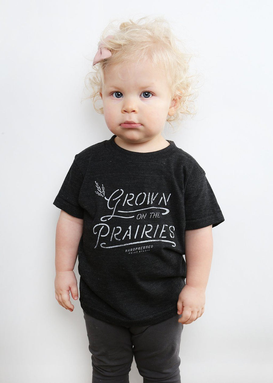 Grown On The Prairies Tee | Tri-Black | Kids